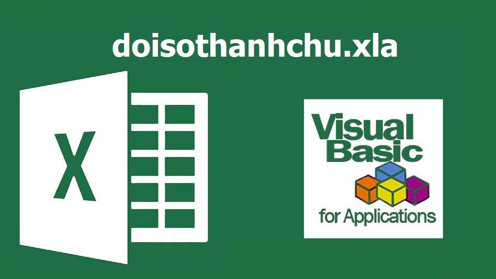 doisothanhchu.xla tự động đổi số thành chữ Excel